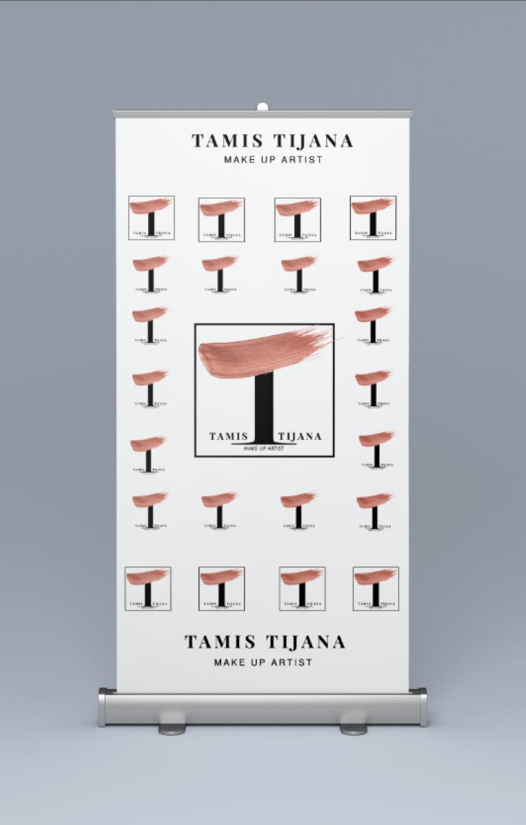 Tamis Tijana make up artist logó és roll-up