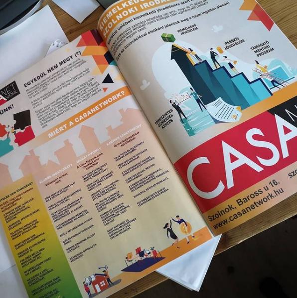 Casa Network kétoldalas hirdetése a Presztízs Magazinban