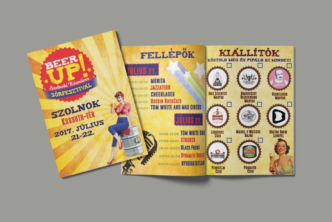 A szolnoki BeerUp Fesztivál programfüzete