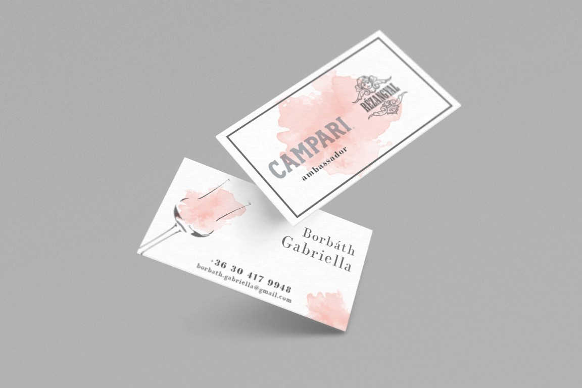 Borbáth Gabriella névjegykártyája