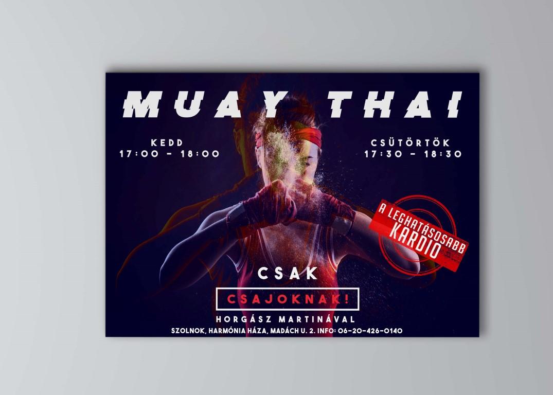 Horgász Martina muay thai edző plakátja
